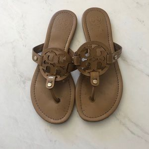 Tory Burch Miller light brown glossy sandals